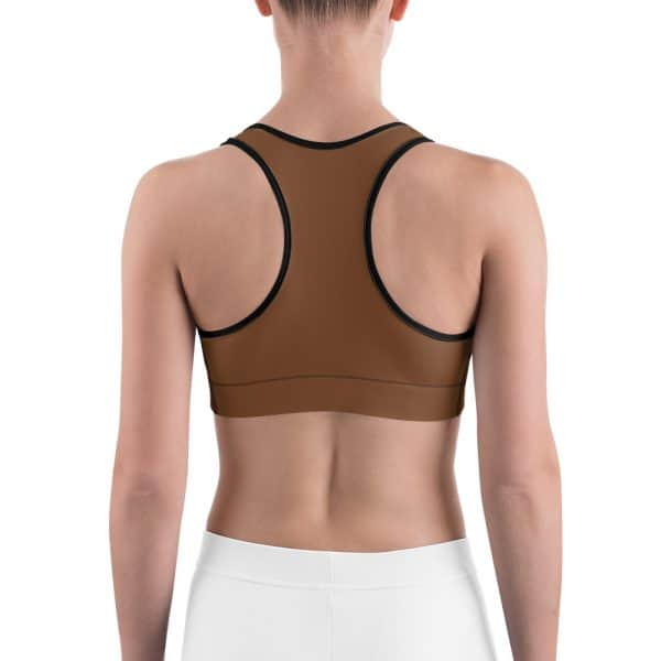 Her Everyday Sports Bra (Toffee) on woman's back