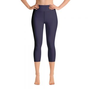(Eclipse) Her Everyday Capri Yoga Pants on woman. Featuring high waist yoga leggings