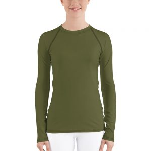 Her Everyday Rash Guard (Terrarium Moss) on woman's front