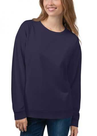 Her Everyday Sweatshirt (Eclipse) on woman's front