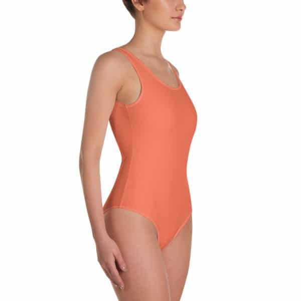Her Everyday One-Piece Swimsuit (Living Coral) on woman front angle