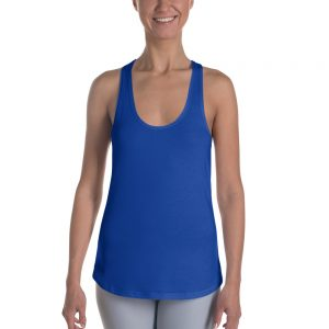 Her Everyday RacerBack (Princess Blue) on woman's front