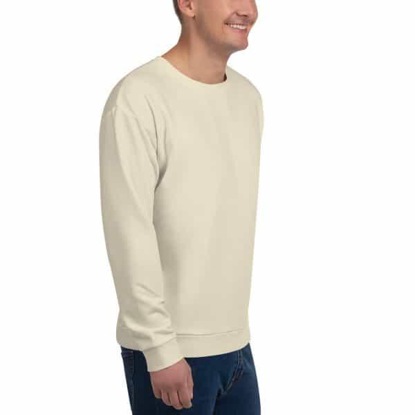 His Everyday Sweatshirt (Sweet Corn) on man front angle 2