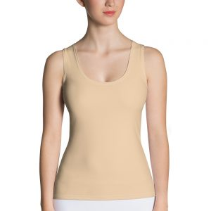 Her Everyday Tank Top (Soybean) on woman's front