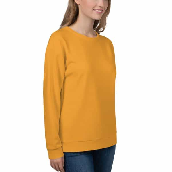 Her Everyday Sweatshirt (Mango Mojito) on woman front angle 2