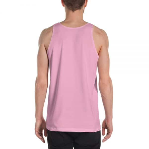 His Everyday Tank on man back (Sweet Lilac)
