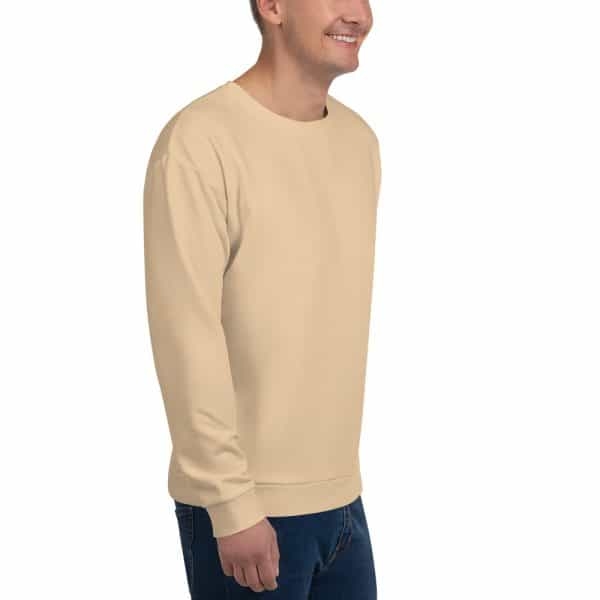 His Everyday Sweatshirt (Soybean) on man front angle 2
