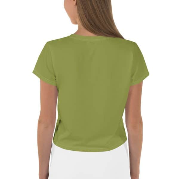 Her Everyday Cropped Tee on woman back (Pepper Stem)