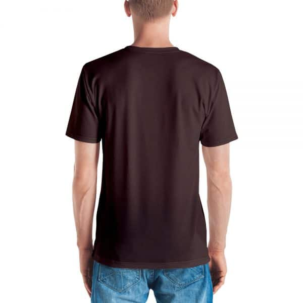 His Everyday T-shirt on man back (Brown Granite)