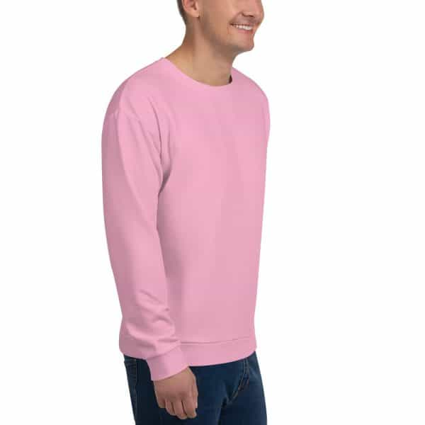 His Everyday Sweatshirt (Sweet Lilac) on man front angle 2