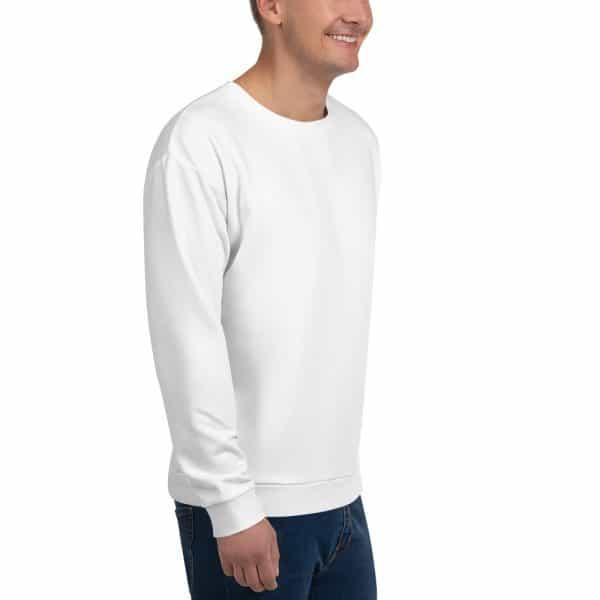 His Everyday Sweatshirt (New Moon) on man's front angle