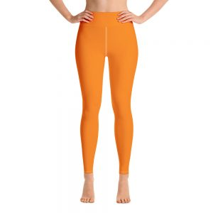 (Turmeric) Her Everyday Yoga Pants on woman. Featuring high waist yoga leggings