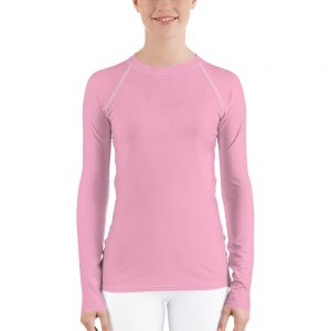 Her Everyday Rash Guard (Sweet Lilac) on woman's front