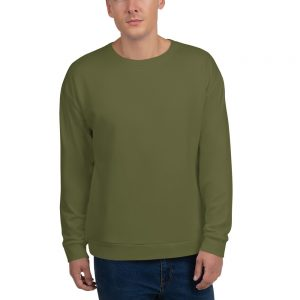 His Everyday Sweatshirt (Terrarium Moss) on man's front