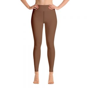 (Toffee) Her Everyday Yoga Pants on woman. Featuring high waist yoga leggings