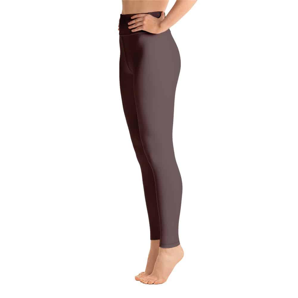 b8264a935437 (Brown Granite) Her Everyday Yoga Pants on woman. Featuring high waist yoga  leggings