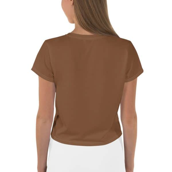 Her Everyday Cropped Tee on woman back (Toffee)