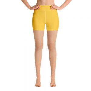 (Aspen Gold) Her Everyday Yoga Shorts on woman. Featuring high waist yoga leggings