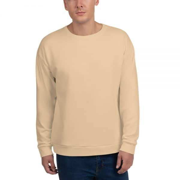 His Everyday Sweatshirt (Soybean) on man's front