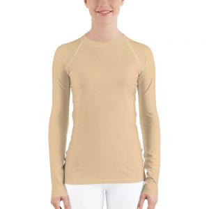 Her Everyday Rash Guard (Soybean) on woman's front