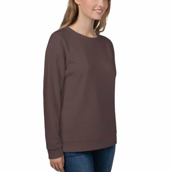 Her Everyday Sweatshirt (Brown Granite) on woman front angle 2