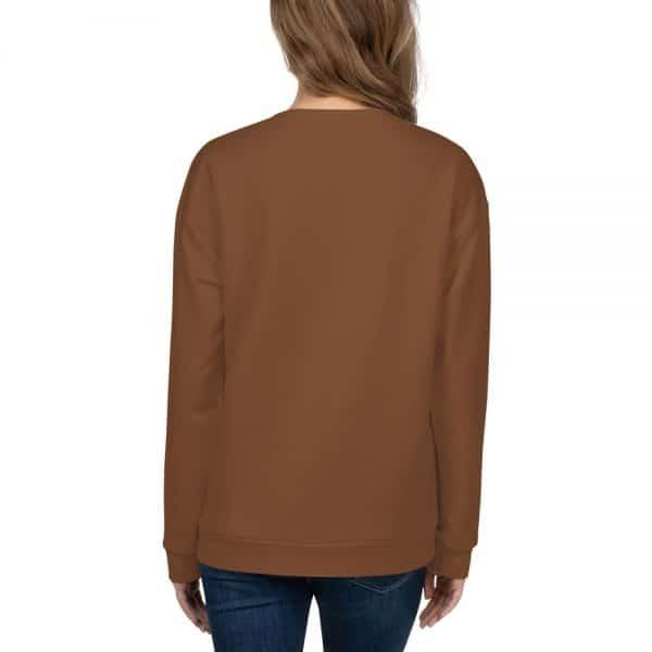 Her Everyday Sweatshirt (Toffee) on woman's back