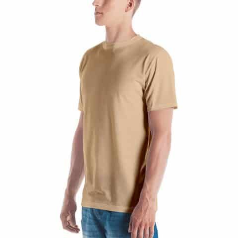 His Everyday T-shirt on man front angle (Soybean)