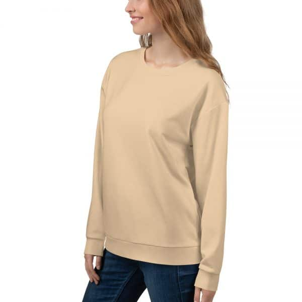 Her Everyday Sweatshirt (Soybean) on woman front angle