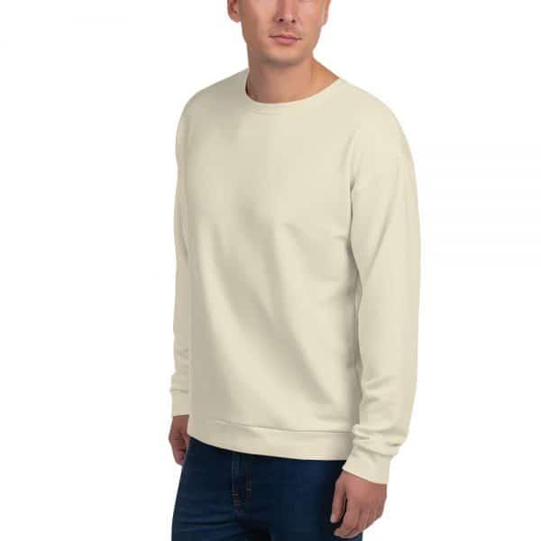 His Everyday Sweatshirt (Sweet Corn) on man front angle