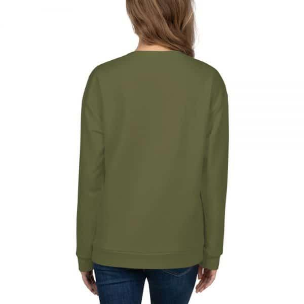 Her Everyday Sweatshirt (Terrarium Moss) on woman's back