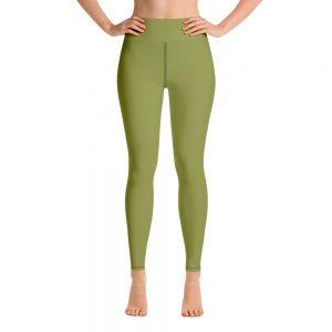(Pepper Stem) Her Everyday Yoga Pants on woman. Featuring high waist yoga leggings