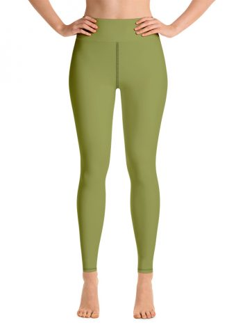 (Pepper Stem) Her Everyday Yoga Pants on woman. Featuring high waist yoga leggings