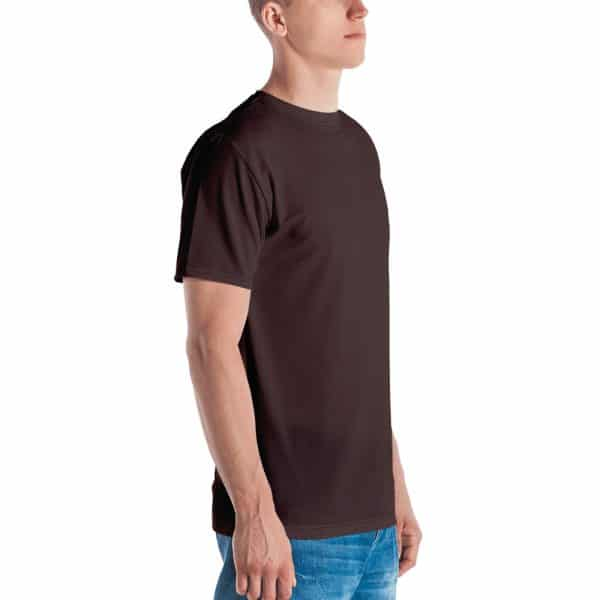 His Everyday T-shirt on man front angle (Brown Granite)