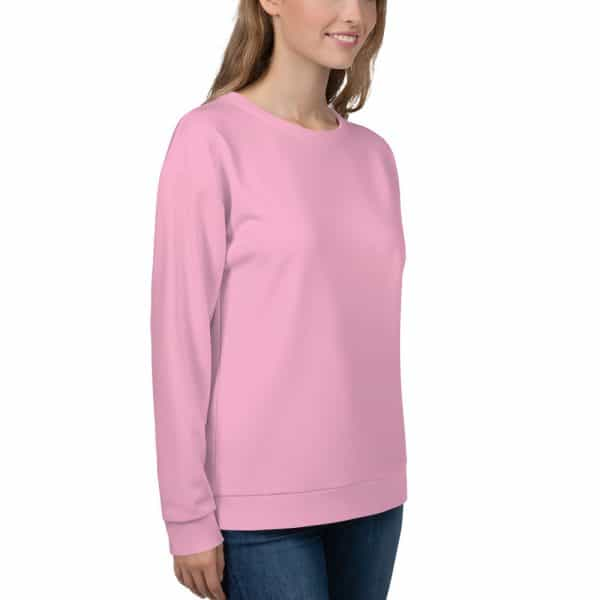 Her Everyday Sweatshirt (Sweet Lilac) on woman front angle 2