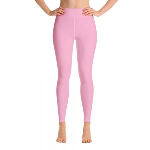(Sweet Lilac) Her Everyday Yoga Pants on woman. Featuring high waist yoga leggings