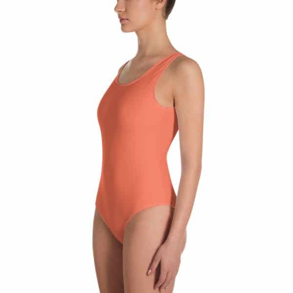 Her Everyday One-Piece Swimsuit (Living Coral) on woman front angle 2