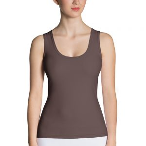 Her Everyday Tank Top (Brown Granite) on woman's front