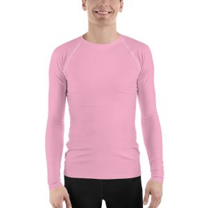 His Everyday Rash Guard on man front (Sweet Lilac)