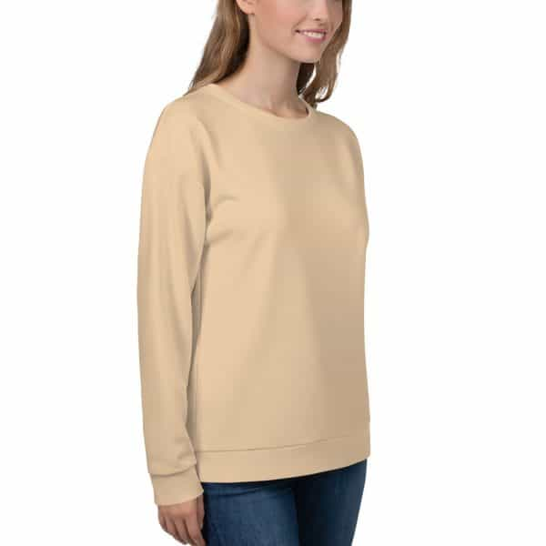 Her Everyday Sweatshirt (Soybean) on woman front angle 2