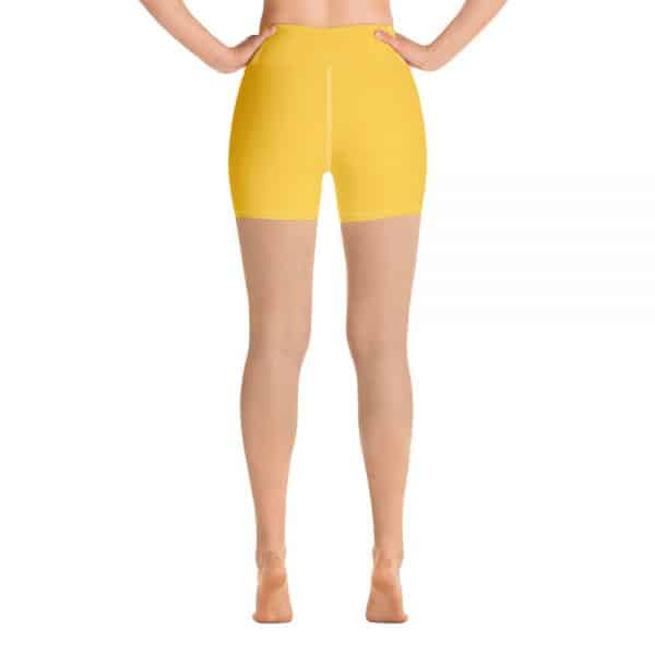 (Aspen Gold) Her Everyday Yoga Shorts on woman. Featuring high waist yoga leggings