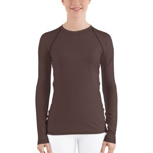 Her Everyday Rash Guard (Brown Granite) on woman's front