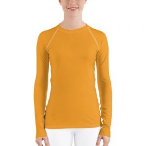 Her Everyday Rash Guard (Mango Mojito) on woman's front