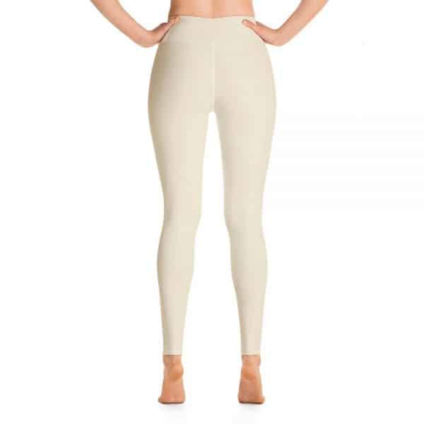 (Sweet Corn) Her Everyday Yoga Pants on woman. Featuring high waist yoga leggings