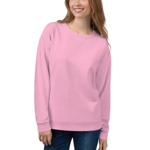 Her Everyday Sweatshirt (Sweet Lilac) on woman's front