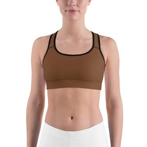 Her Everyday Sports Bra (Toffee) on woman's front