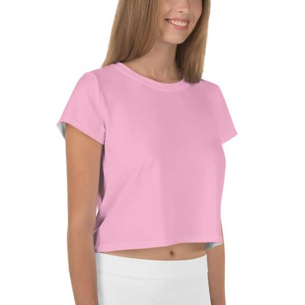 Her Everyday Cropped Tee on woman front angle (Sweet Lilac)