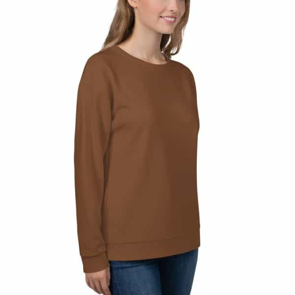 Her Everyday Sweatshirt (Toffee) on woman front angle 2
