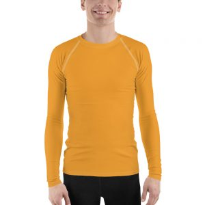 His Everyday Rash Guard on man front (Mango Mojito)
