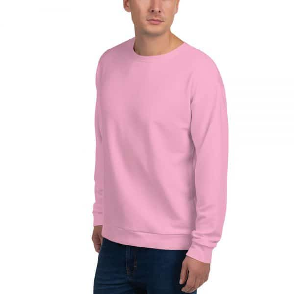 His Everyday Sweatshirt (Sweet Lilac) on man front angle