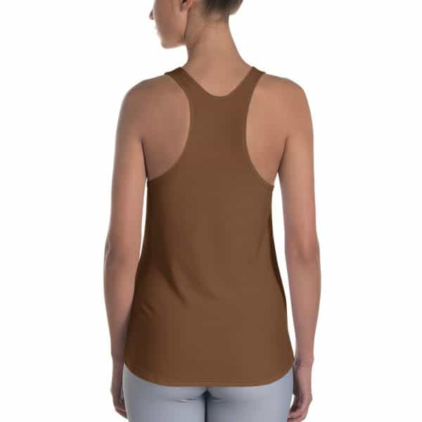 Her Everyday RacerBack (Toffee) on woman's back
